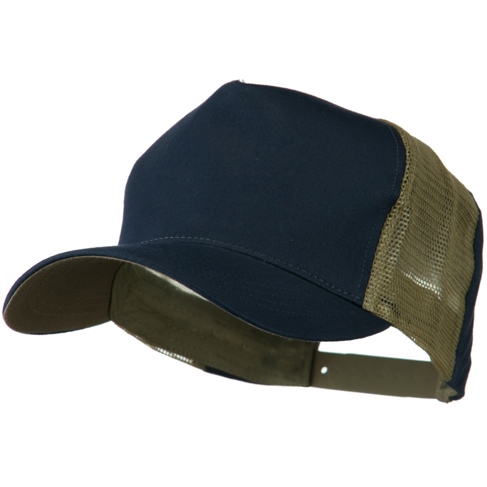 Cotton Cap With Two Side Mesh Panel - Navy Khaki - Hats and Caps Online Shop - Hip Head Gear