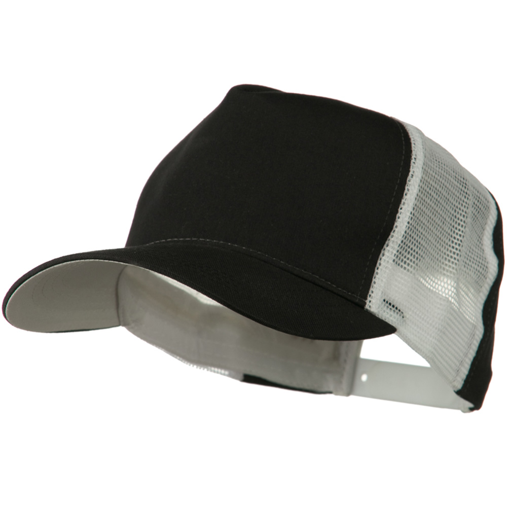 Cotton Cap With Two Side Mesh Panel - Black White - Hats and Caps Online Shop - Hip Head Gear