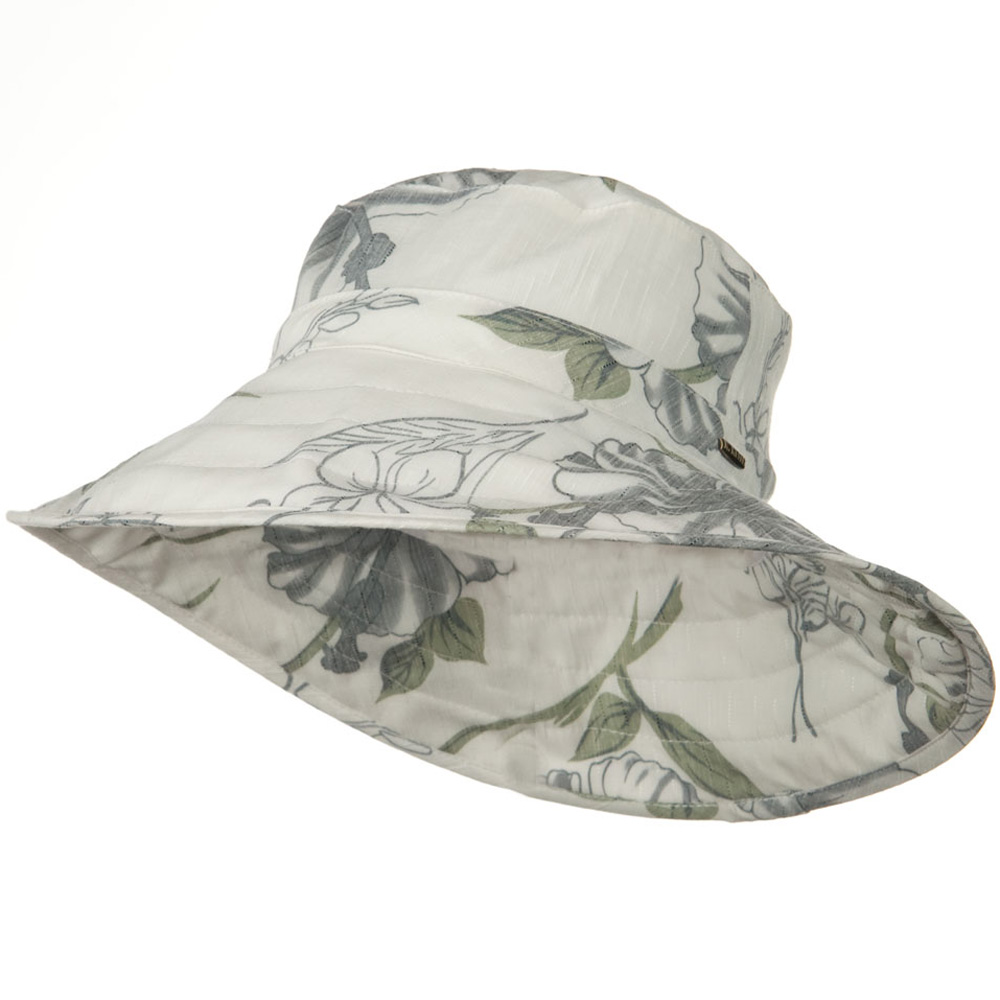 UPF 50+ Cotton 4 Inch Down Brim Hat - Ivory Grey - Hats and Caps Online Shop - Hip Head Gear
