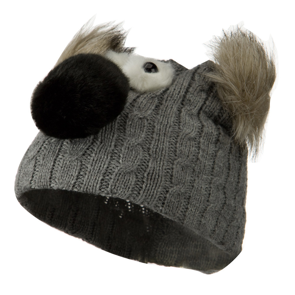Youth Cable Design Animal Beanie - Koala Grey - Hats and Caps Online Shop - Hip Head Gear