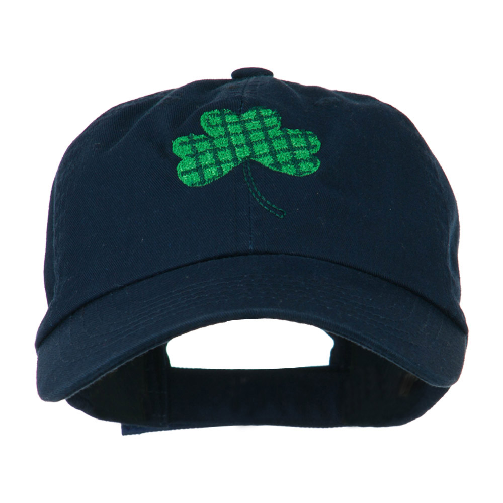 Clover Design Embroidered Cap - Navy - Hats and Caps Online Shop - Hip Head Gear
