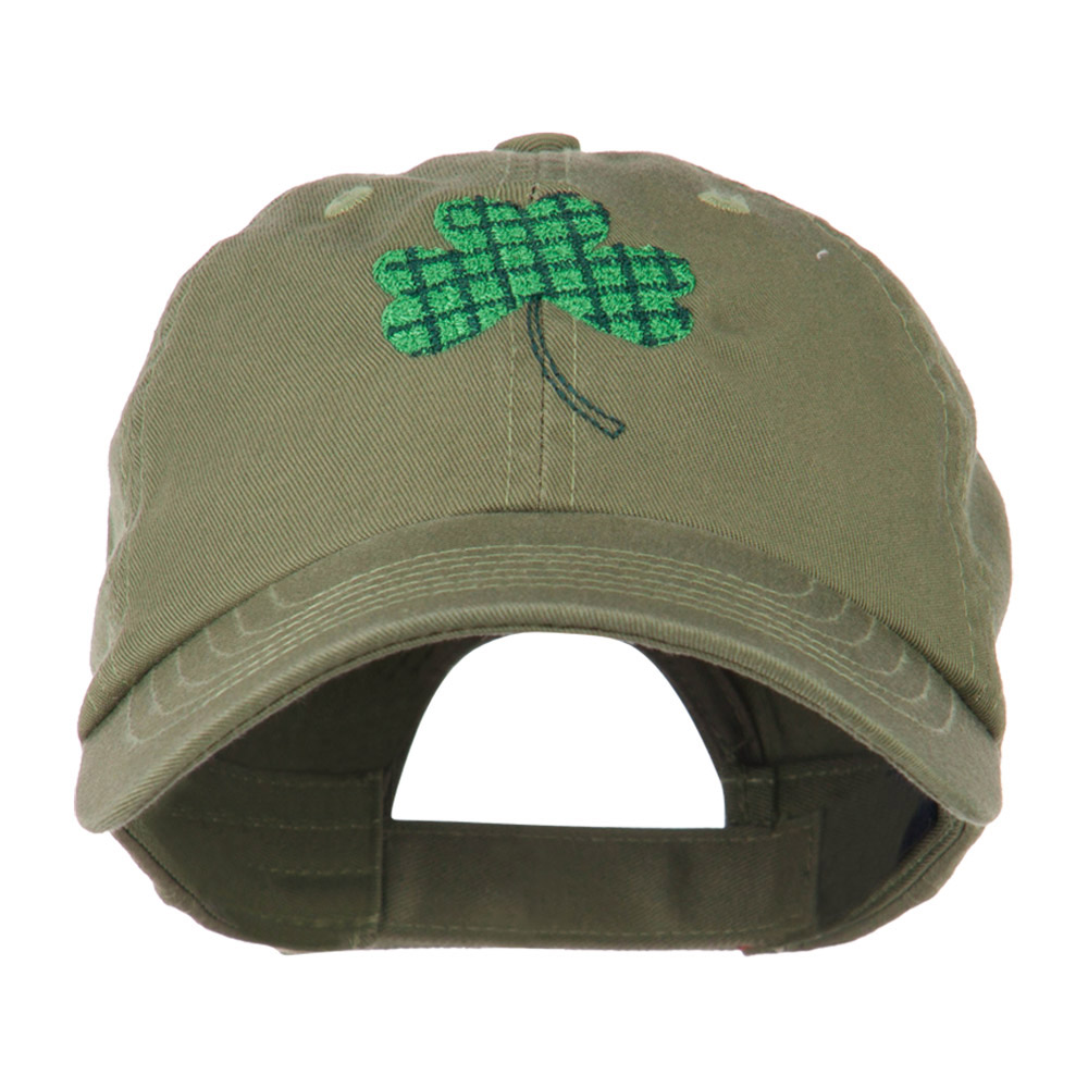 Clover Design Embroidered Cap - Olive - Hats and Caps Online Shop - Hip Head Gear
