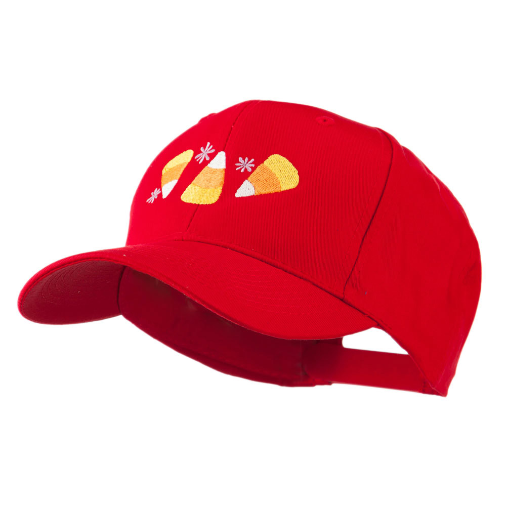 Halloween Candies Embroidered Cap - Red - Hats and Caps Online Shop - Hip Head Gear