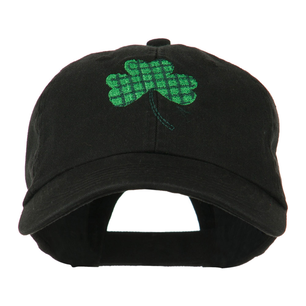 Clover Design Embroidered Cap - Black - Hats and Caps Online Shop - Hip Head Gear