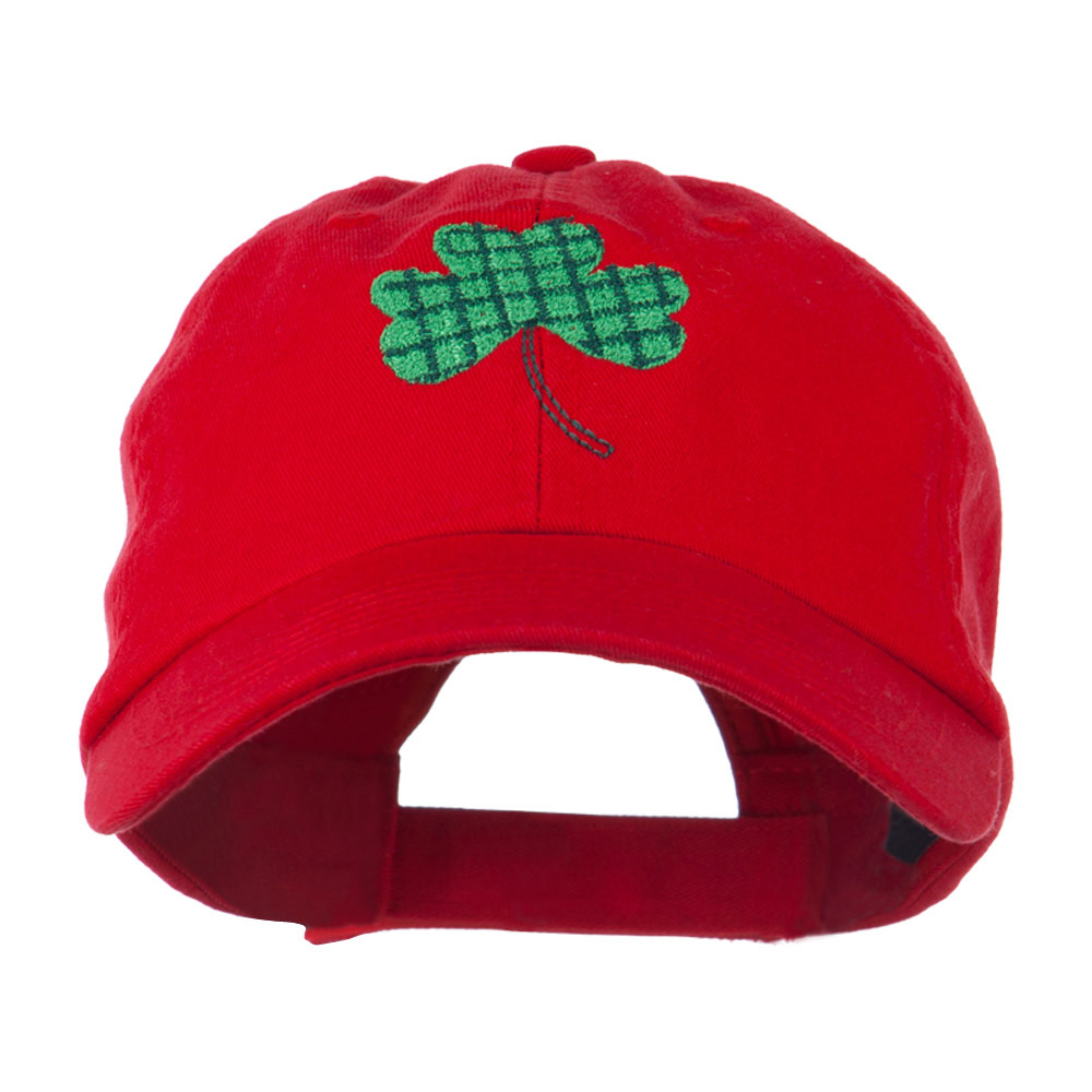 Clover Design Embroidered Cap - Red - Hats and Caps Online Shop - Hip Head Gear