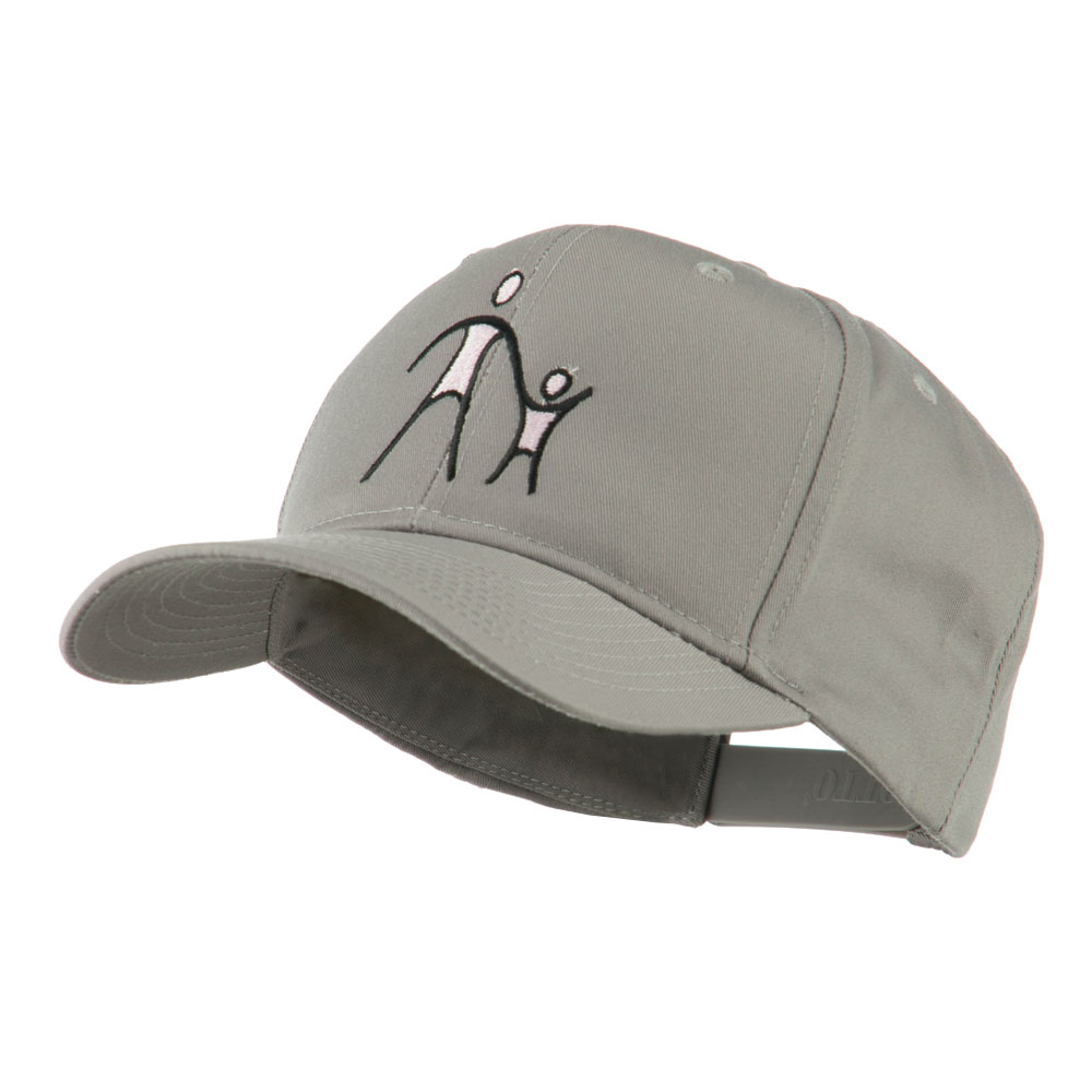 Cancer Hope Logo Embroidered Cap - Grey - Hats and Caps Online Shop - Hip Head Gear