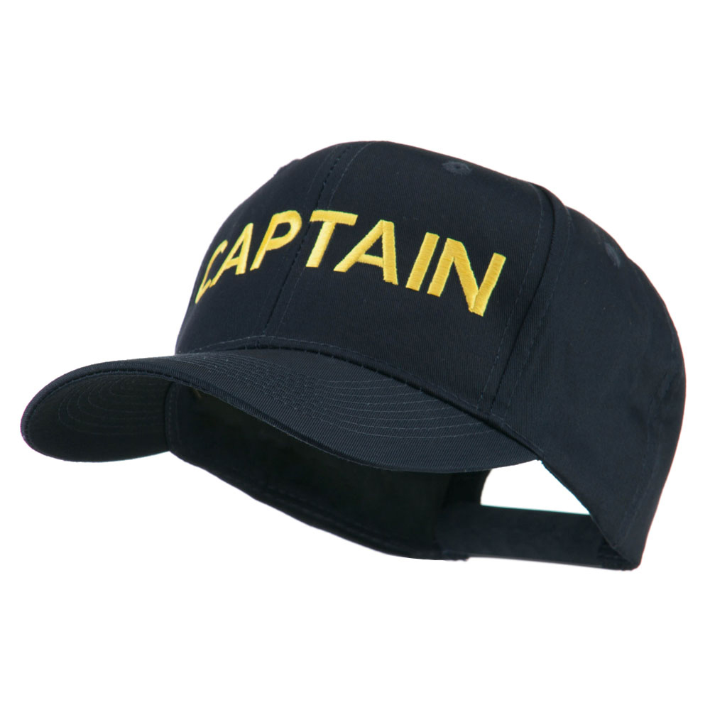 Captain Embroidered Cap - Navy - Hats and Caps Online Shop - Hip Head Gear