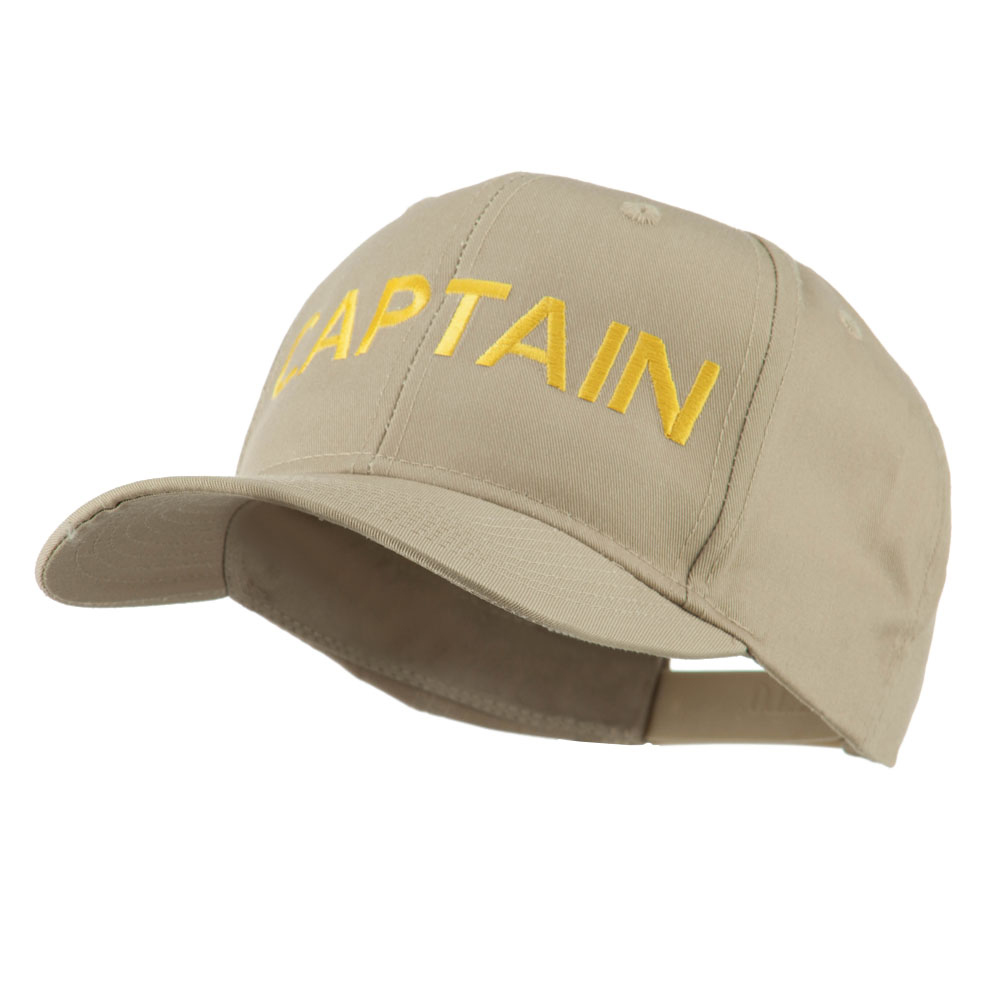 Captain Embroidered Cap - Khaki - Hats and Caps Online Shop - Hip Head Gear