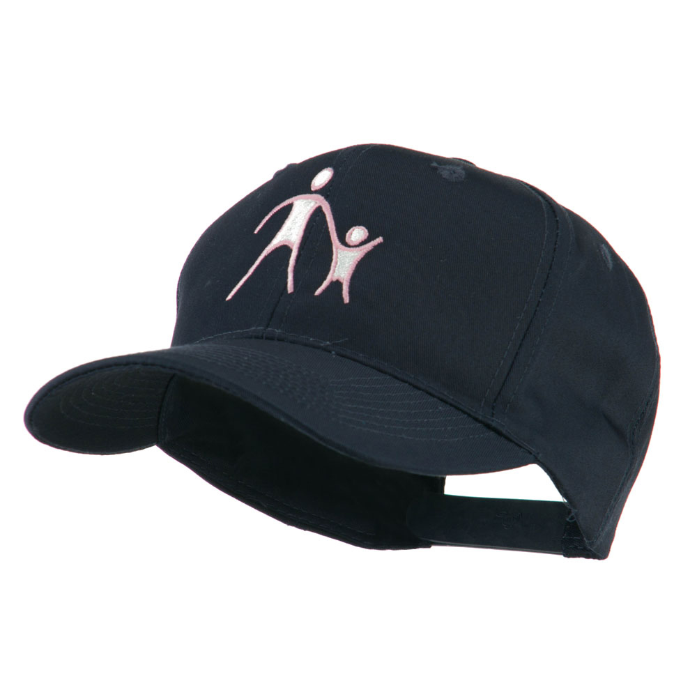 Cancer Hope Logo Embroidered Cap - Navy - Hats and Caps Online Shop - Hip Head Gear