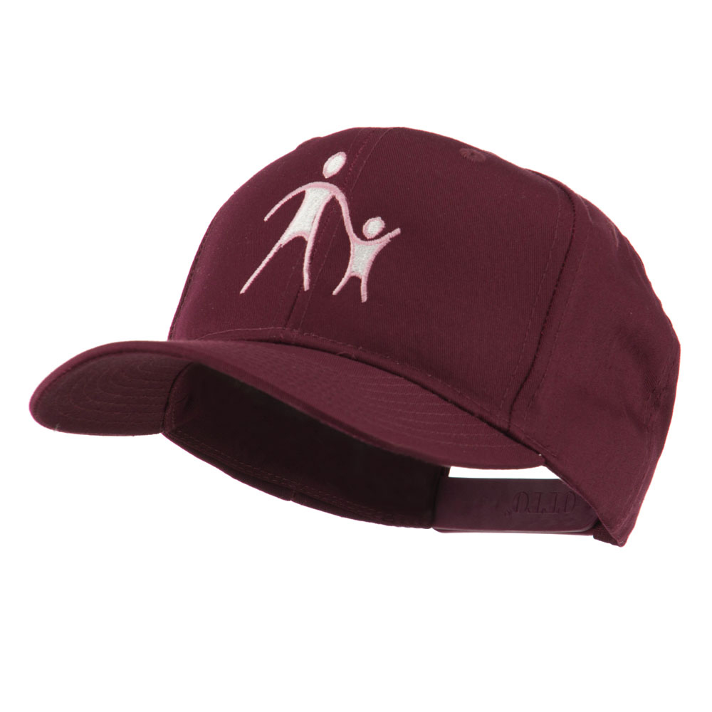 Cancer Hope Logo Embroidered Cap - Maroon - Hats and Caps Online Shop - Hip Head Gear