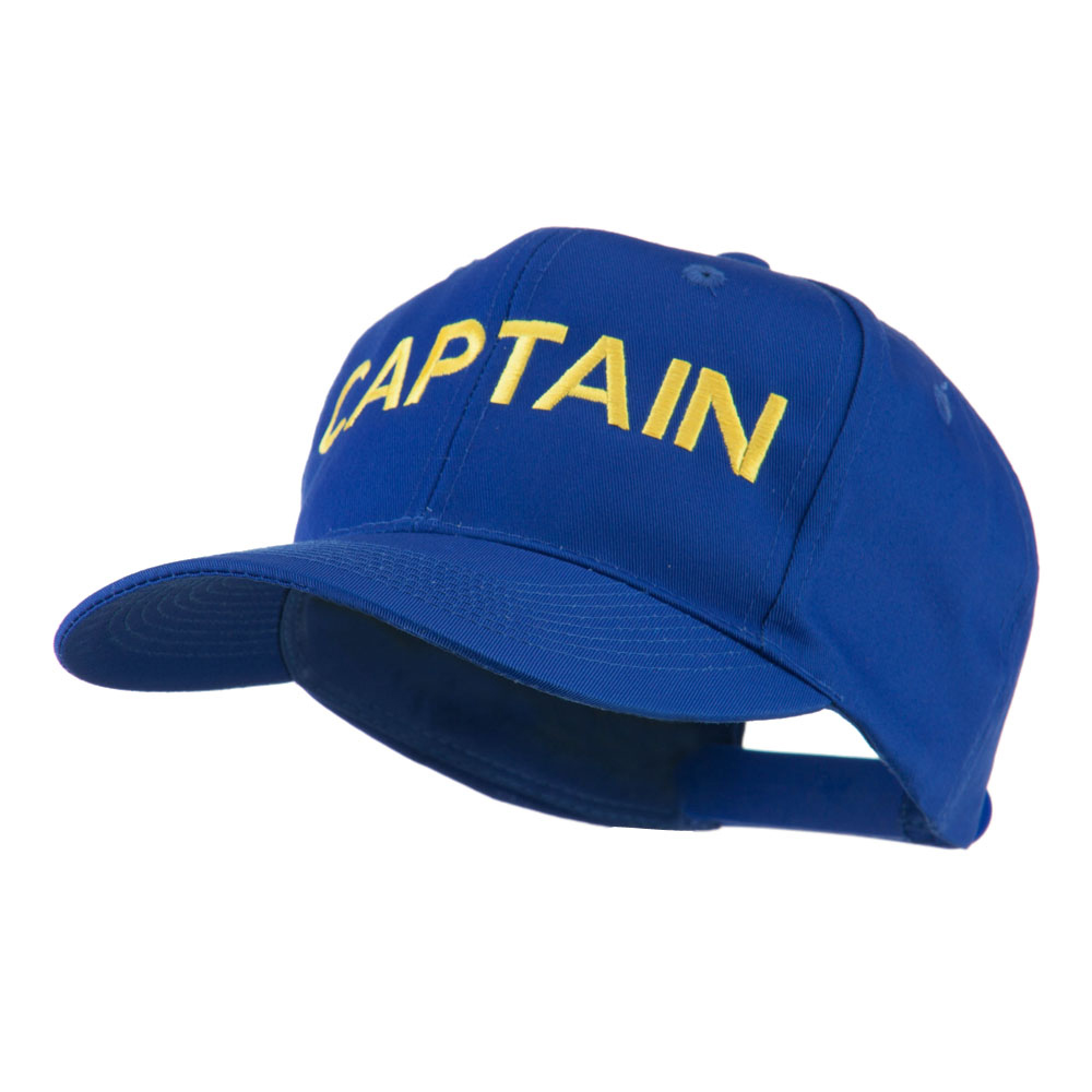 Captain Embroidered Cap - Royal - Hats and Caps Online Shop - Hip Head Gear