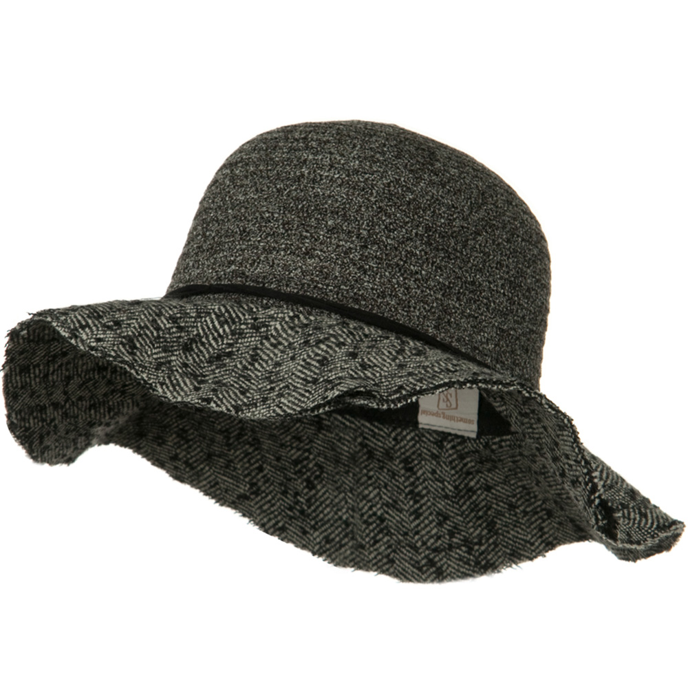 Chenille Hat with Frayed Brim - Grey - Hats and Caps Online Shop - Hip Head Gear