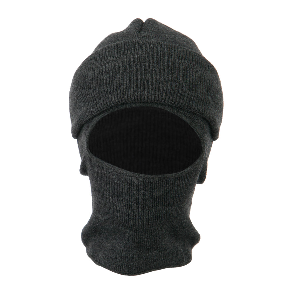 Cuff One Hole Ski Mask - Grey - Hats and Caps Online Shop - Hip Head Gear