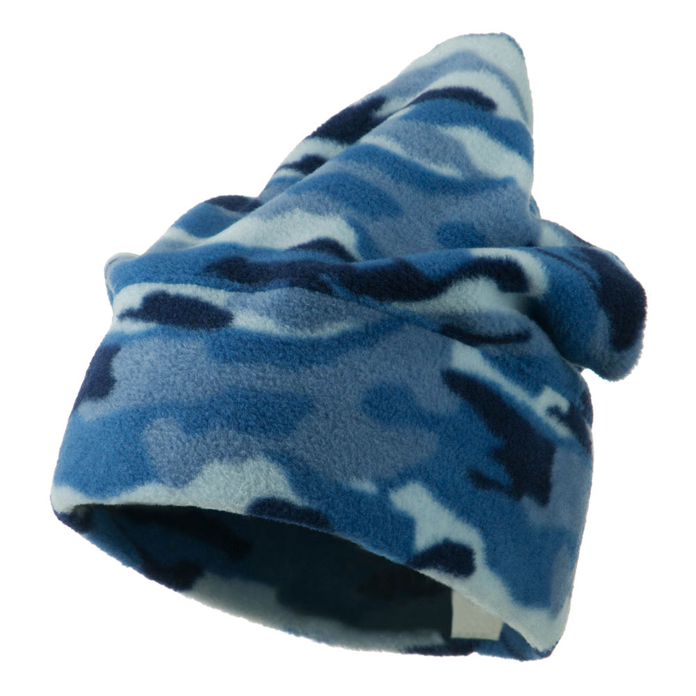 Camo Fleece Adjustable Hat - Blue - Hats and Caps Online Shop - Hip Head Gear