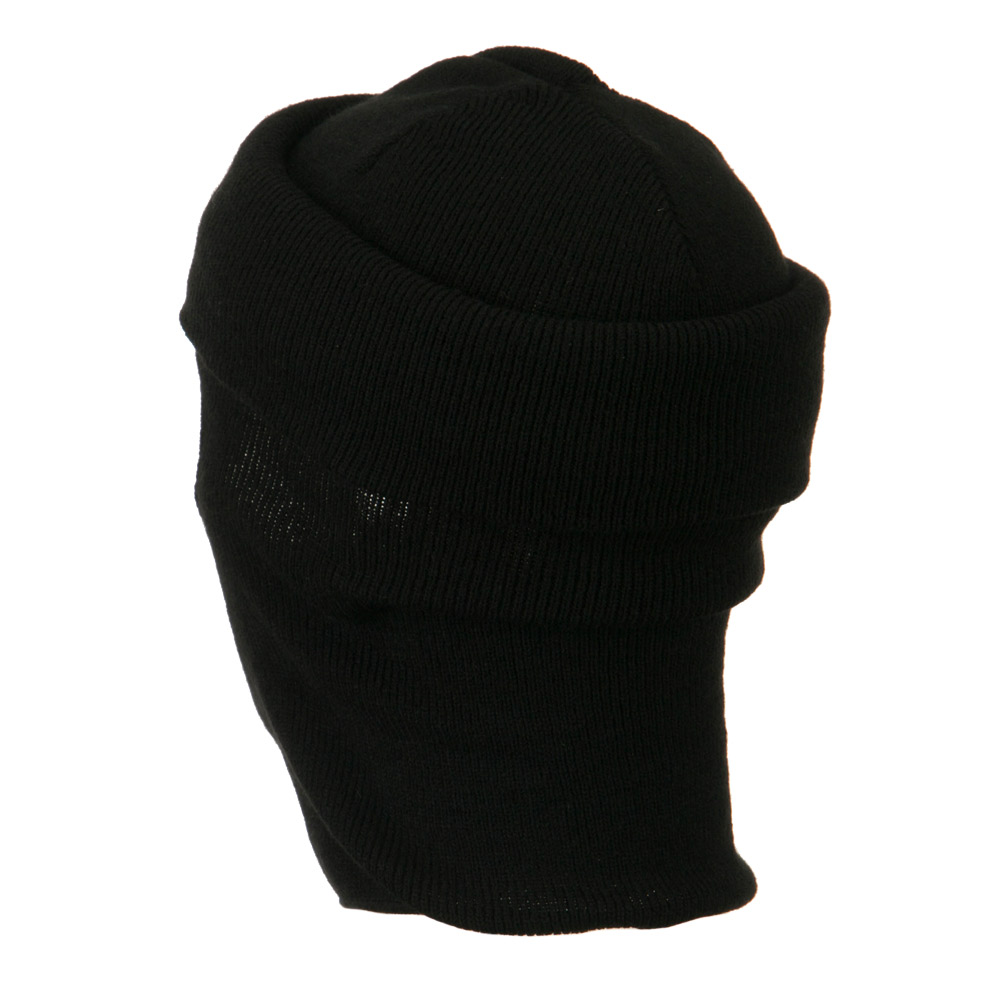 Cuff One Hole Ski Mask - Black - Hats and Caps Online Shop - Hip Head Gear