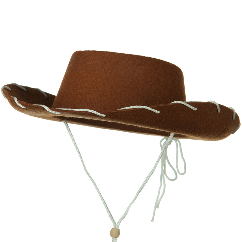 Stitched Child Felt Cowboy Hat - Brown - Hats and Caps Online Shop - Hip Head Gear