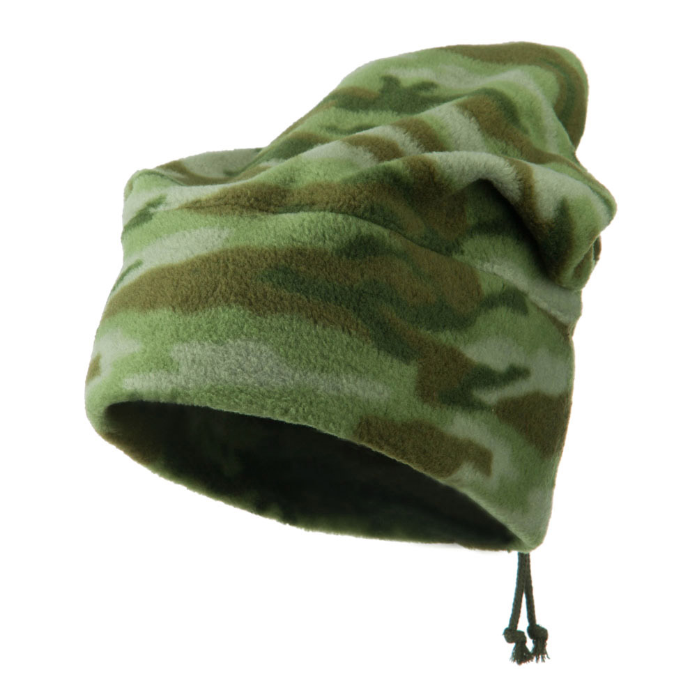 Camo Fleece Adjustable Hat - Green - Hats and Caps Online Shop - Hip Head Gear