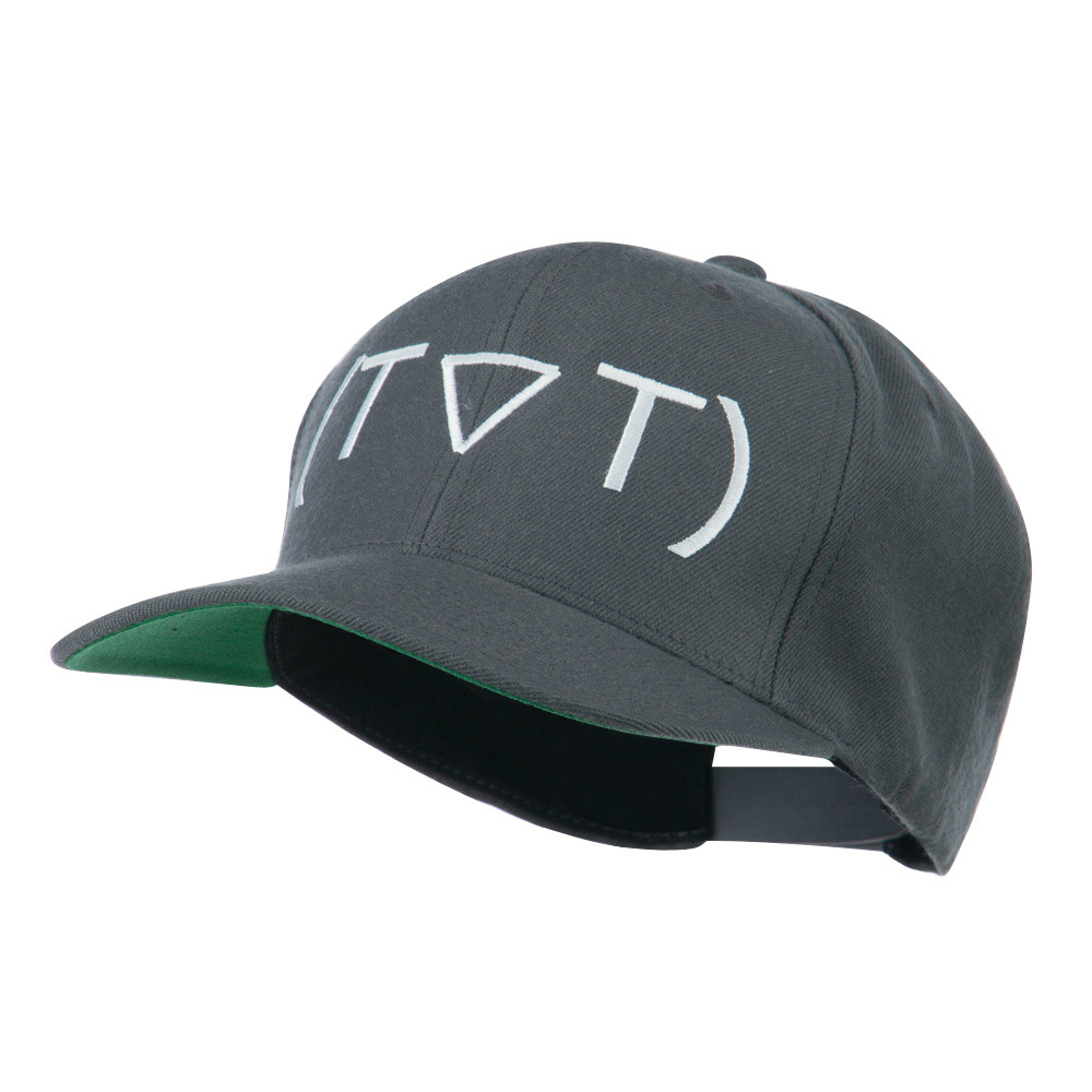Crying Face Text Emoticon Embroidered Snapback Cap - Grey - Hats and Caps Online Shop - Hip Head Gear