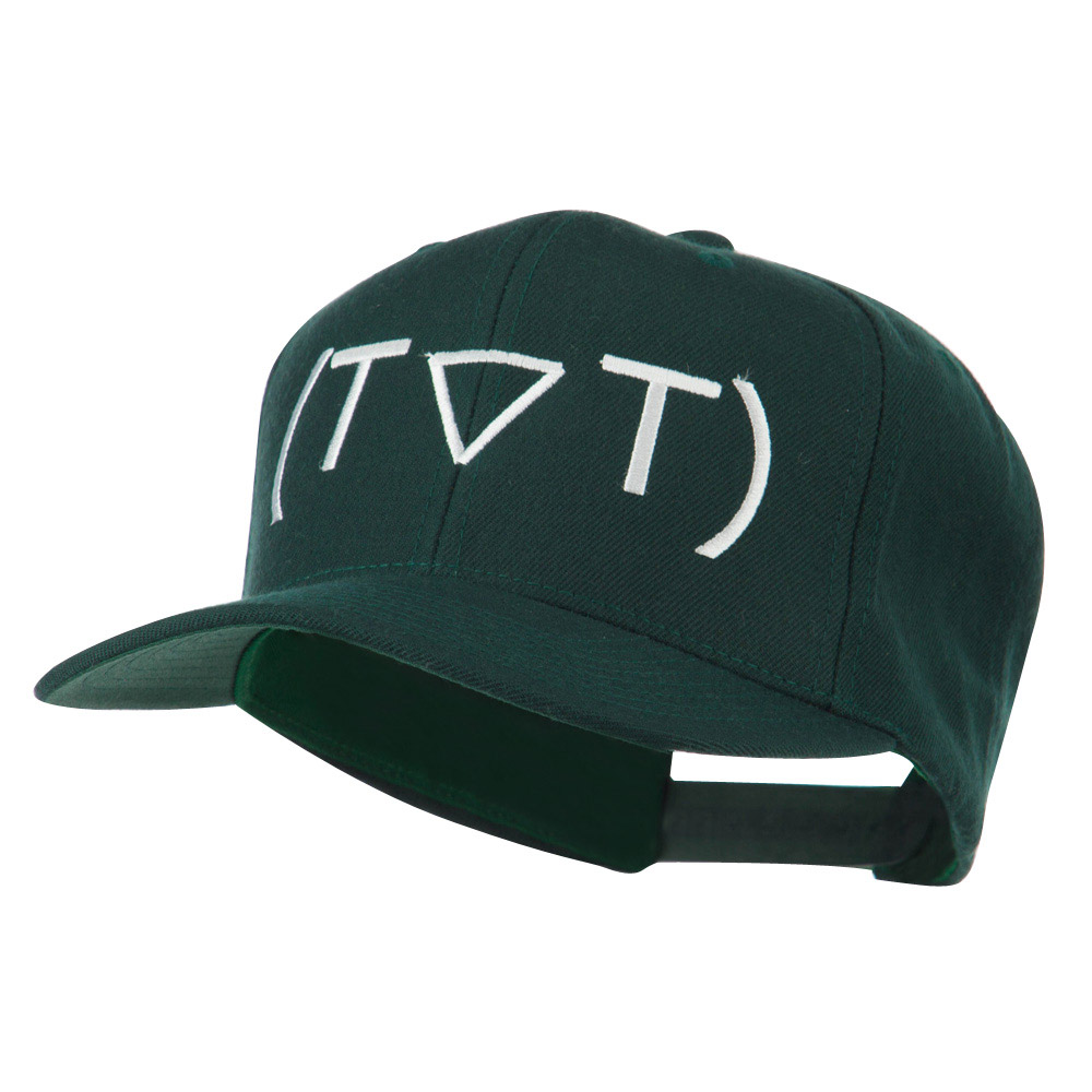 Crying Face Text Emoticon Embroidered Snapback Cap - Spruce - Hats and Caps Online Shop - Hip Head Gear