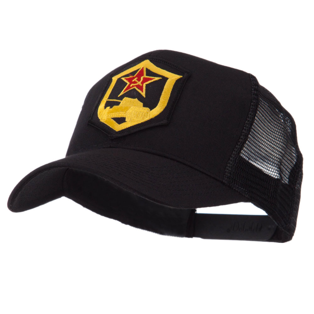 Combined Forces Military Patched Mesh Cap - Red Flag - Hats and Caps Online Shop - Hip Head Gear