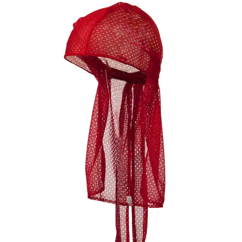 Cool Mesh Durag - Red - Hats and Caps Online Shop - Hip Head Gear