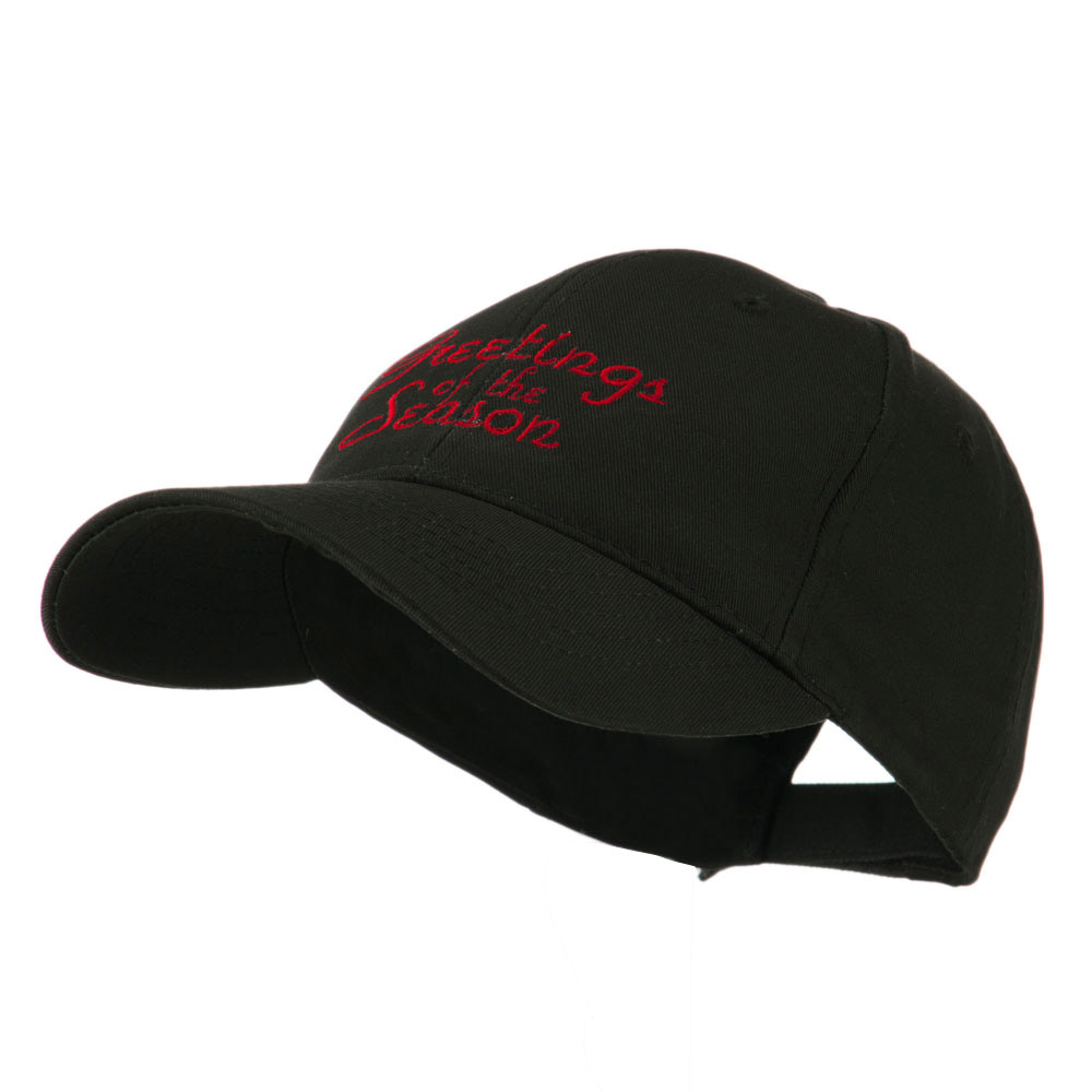 Christmas Greetings of the Season Embroidered Cap - Black - Hats and Caps Online Shop - Hip Head Gear