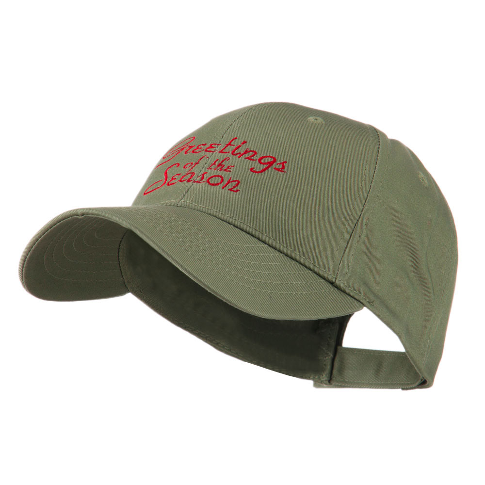 Christmas Greetings of the Season Embroidered Cap - Olive - Hats and Caps Online Shop - Hip Head Gear