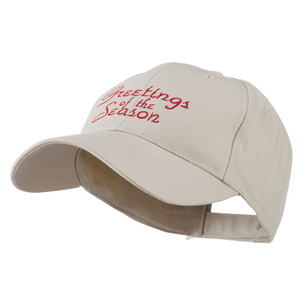 Christmas Greetings of the Season Embroidered Cap - Stone - Hats and Caps Online Shop - Hip Head Gear