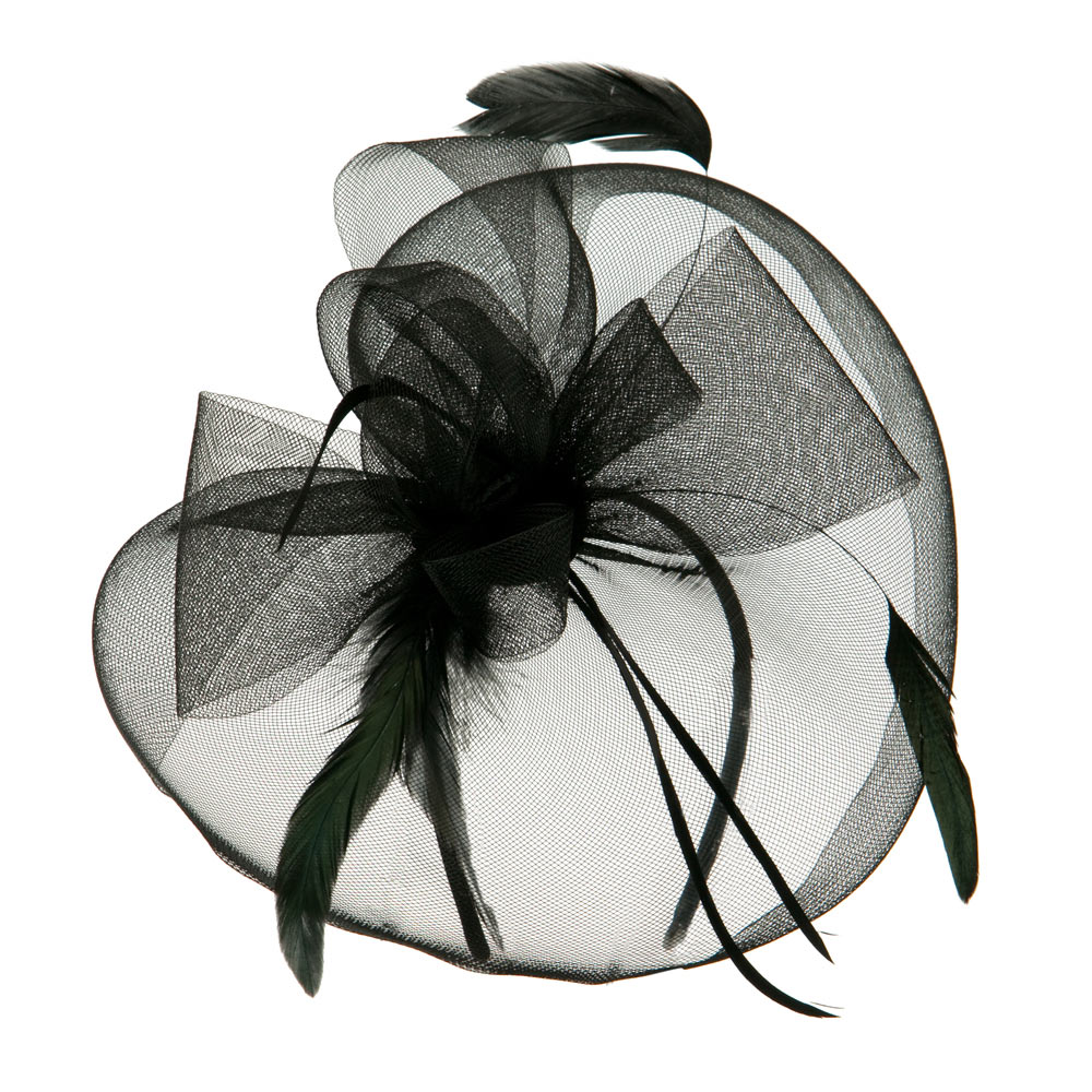 Circle Shaped Netting Fascinator Headband - Black - Hats and Caps Online Shop - Hip Head Gear