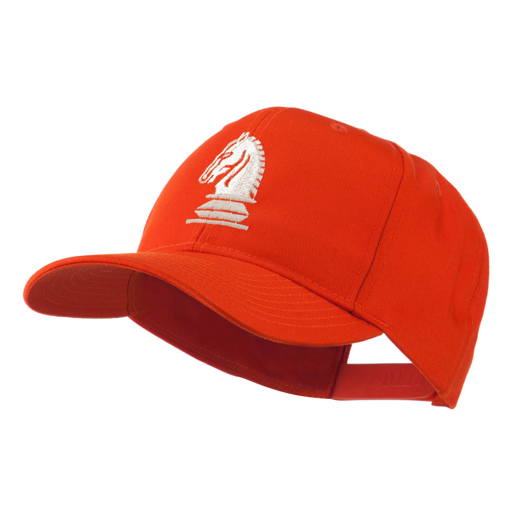 Chess Piece of a Knight Embroidered Cap - Orange - Hats and Caps Online Shop - Hip Head Gear