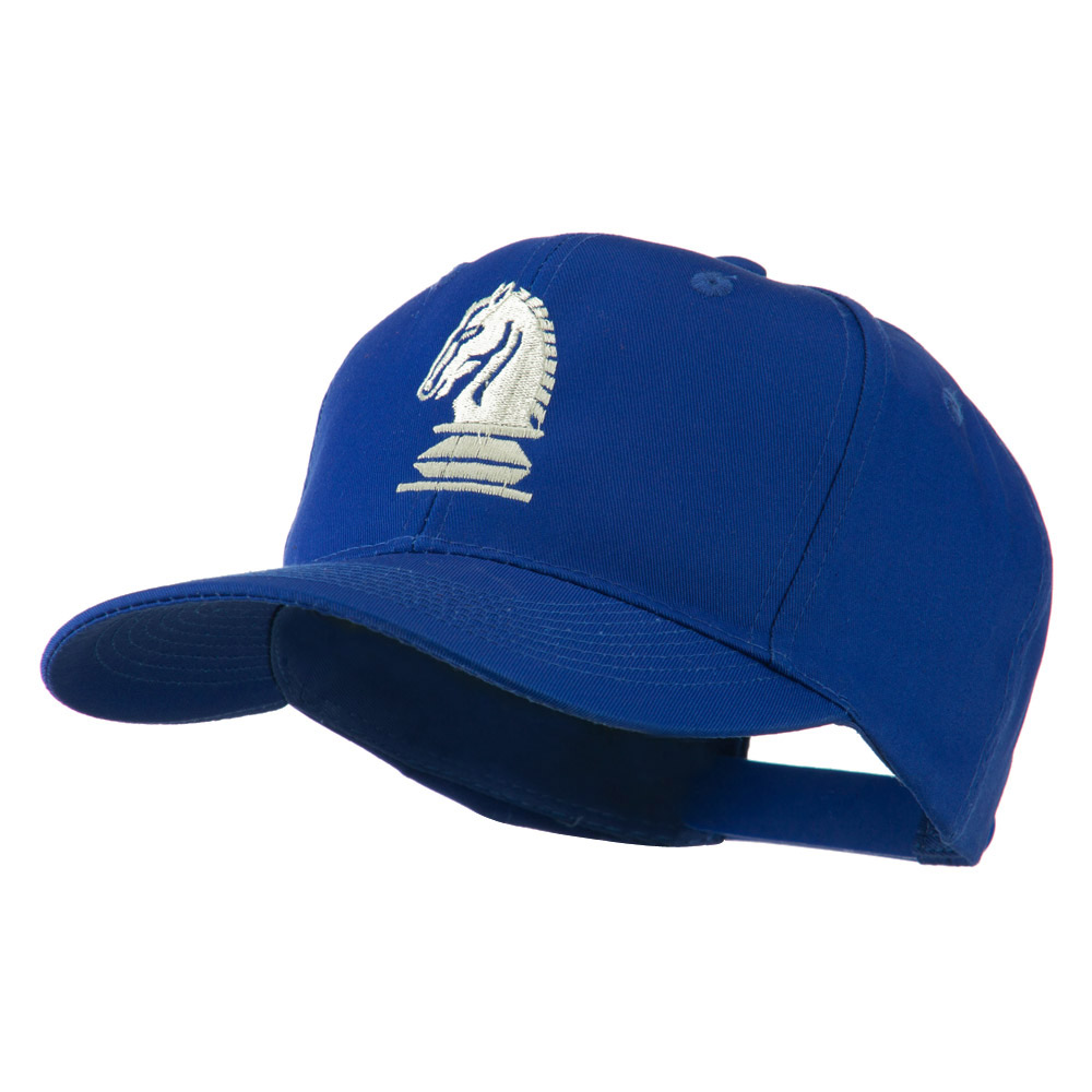 Chess Piece of a Knight Embroidered Cap - Royal - Hats and Caps Online Shop - Hip Head Gear