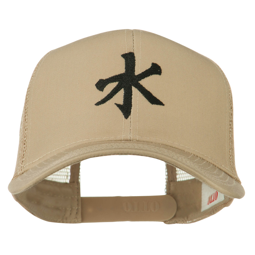 Chinese symbol for Water Embroidered Cap - Khaki - Hats and Caps Online Shop - Hip Head Gear
