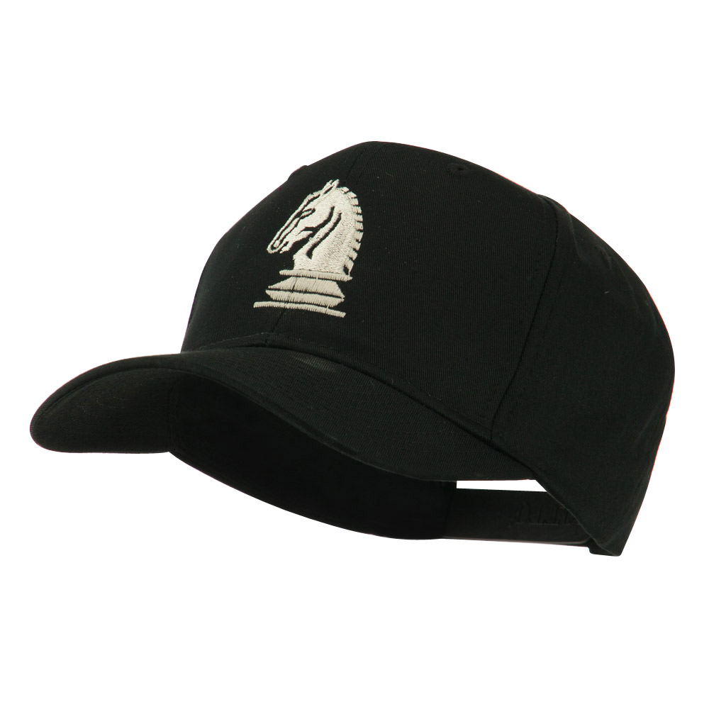 Chess Piece of a Knight Embroidered Cap - Black - Hats and Caps Online Shop - Hip Head Gear