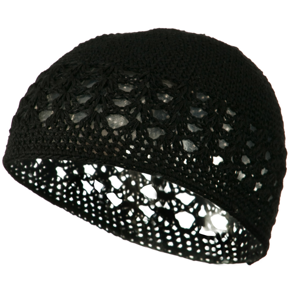 Cotton Kufi Cap - Black - Hats and Caps Online Shop - Hip Head Gear