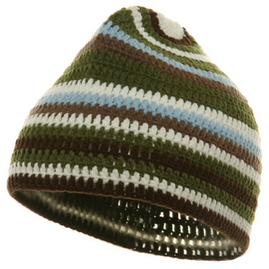 Crocheted Kufi Beanies-Olive - Hats and Caps Online Shop - Hip Head Gear
