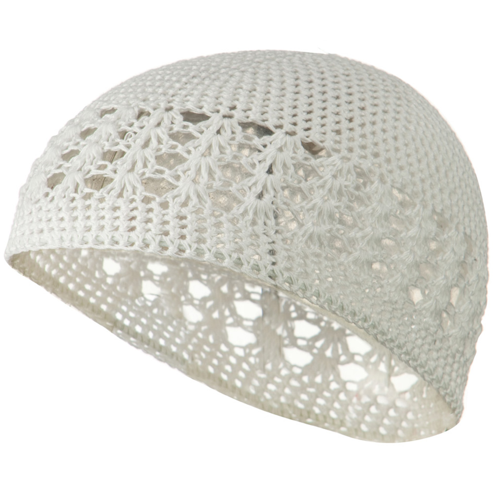Cotton Kufi Cap - White - Hats and Caps Online Shop - Hip Head Gear