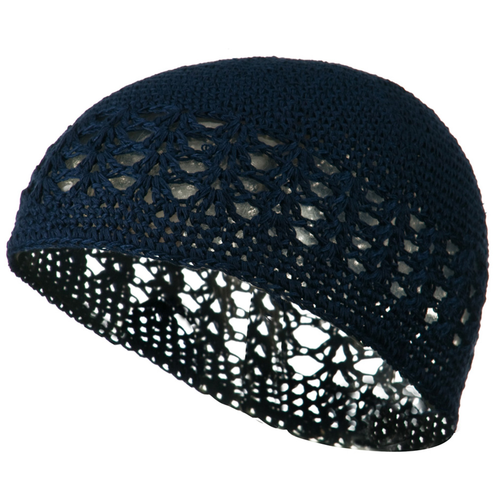 Cotton Kufi Cap - Navy - Hats and Caps Online Shop - Hip Head Gear