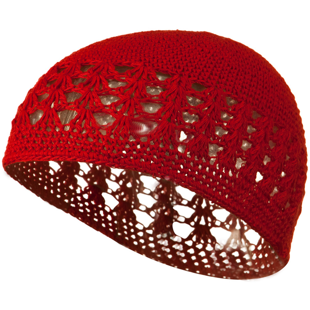 Cotton Kufi Cap - Red - Hats and Caps Online Shop - Hip Head Gear