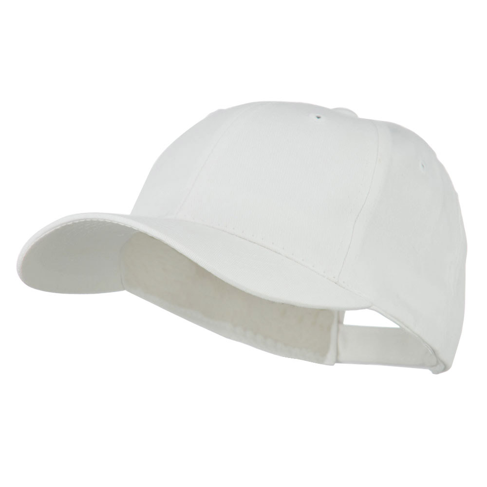 6 Panel Constructed Twill Cap - White - Hats and Caps Online Shop - Hip Head Gear