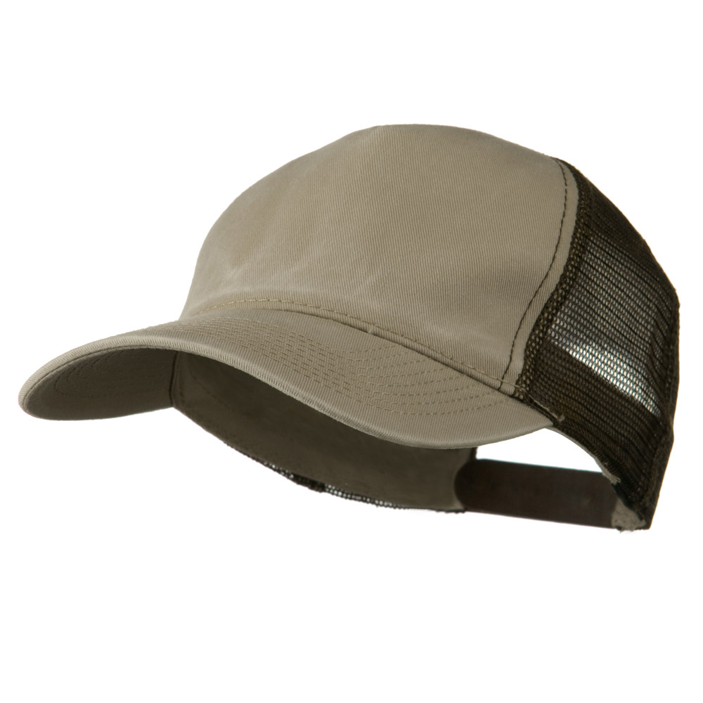 Distress Washed Tiw Mesh Cap - Khaki Brown - Hats and Caps Online Shop - Hip Head Gear