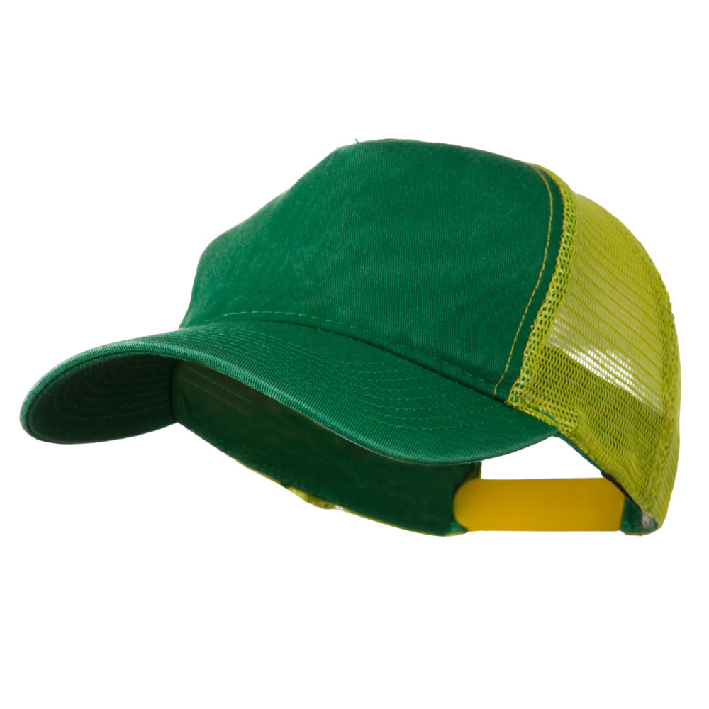 Distress Washed Tiw Mesh Cap - Kelly Lime - Hats and Caps Online Shop - Hip Head Gear