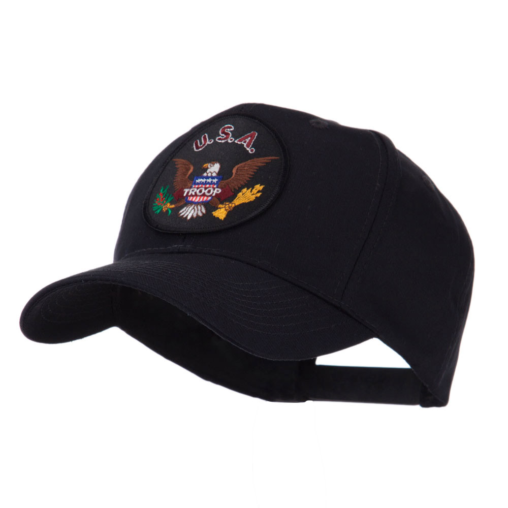 Army Circular Shape Embroidered Military Patch Cap - Troop - Hats and Caps Online Shop - Hip Head Gear