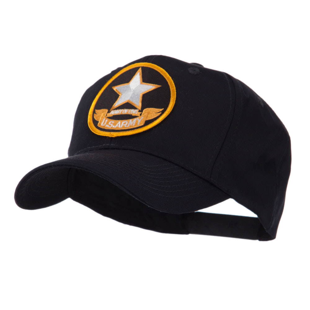 Army Circular Shape Embroidered Military Patch Cap - Army 2 - Hats and Caps Online Shop - Hip Head Gear