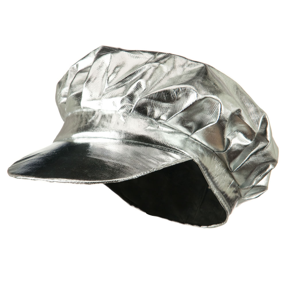 Metallic Newsboy Cap - Silver - Hats and Caps Online Shop - Hip Head Gear