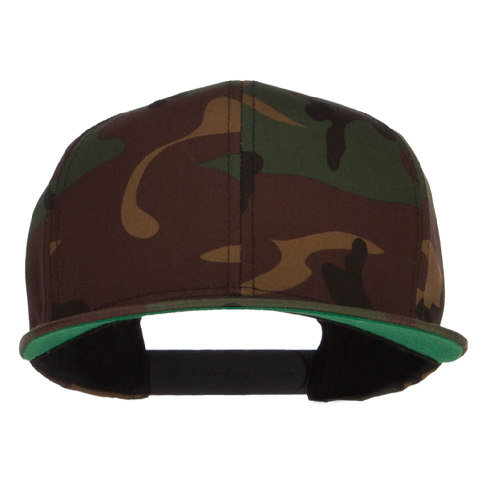 Camo Flexfit Flat Bill Cap - Green