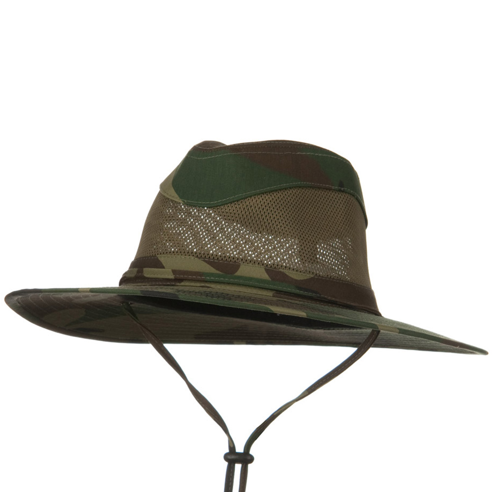 Canvas Brim and Mesh Crown Hat - Camo Olive - Hats and Caps Online Shop - Hip Head Gear
