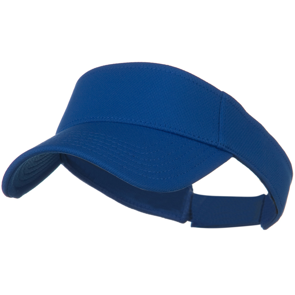 Cool Comfort Polyester Cool Mesh Sun Visor - Royal - Hats and Caps Online Shop - Hip Head Gear