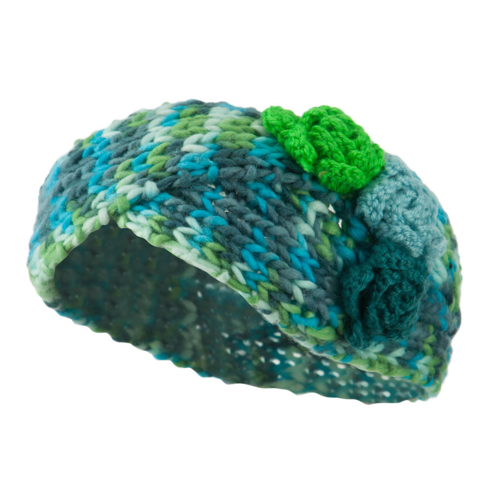 Multi Color Knit Headband - Green - Hats and Caps Online Shop - Hip Head Gear