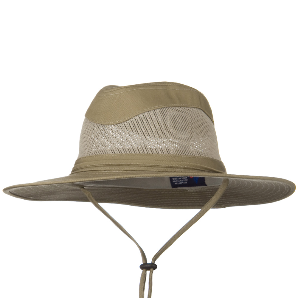Canvas Brim and Mesh Crown Hat - Khaki - Hats and Caps Online Shop - Hip Head Gear