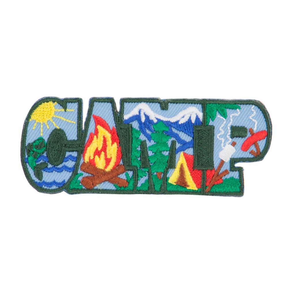 Camping Fun Patches - Green
